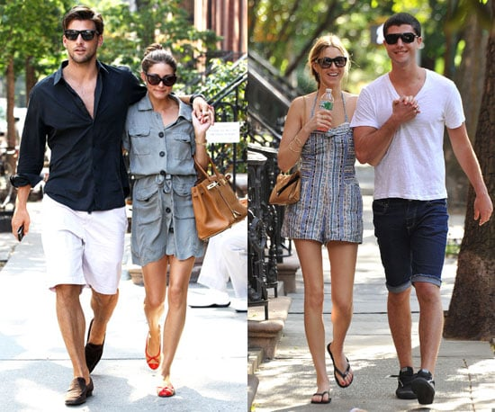 Hot Summer in the city: Olivia takes a dressed-down stroll with Johannes; Whitney and Ben make a sweet pair.