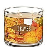 Bath and Body Works Leaves Three-Wick Candle