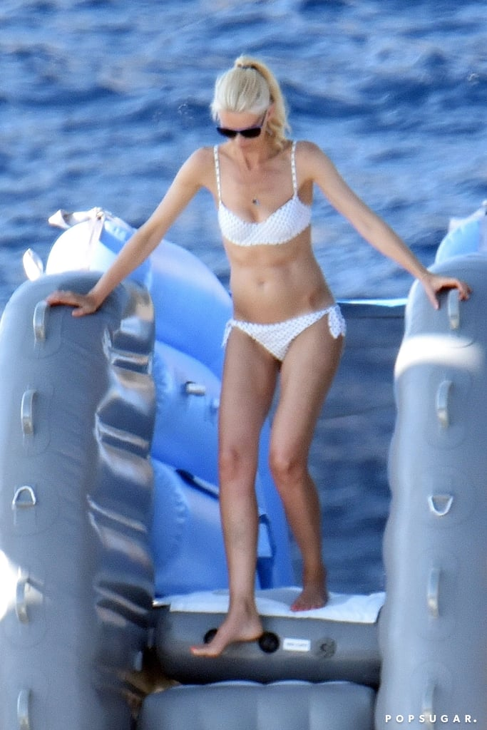 Supermodel Claudia Schiffer Rocks a Tiny White Bikini While Boating in Italy
