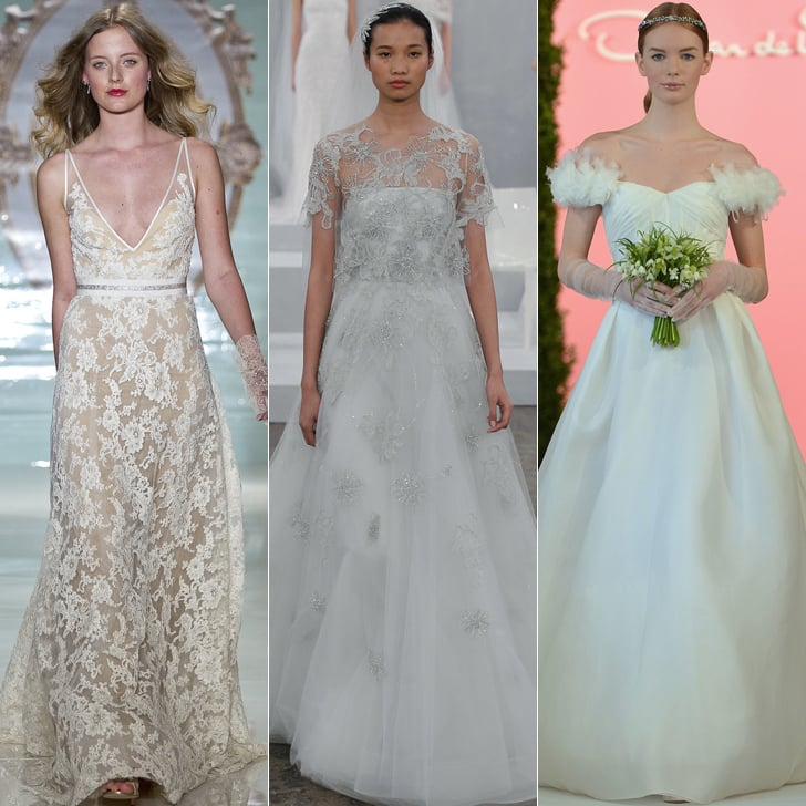 bridal fashion week wedding dress trends spring 2015 popsugar fashion