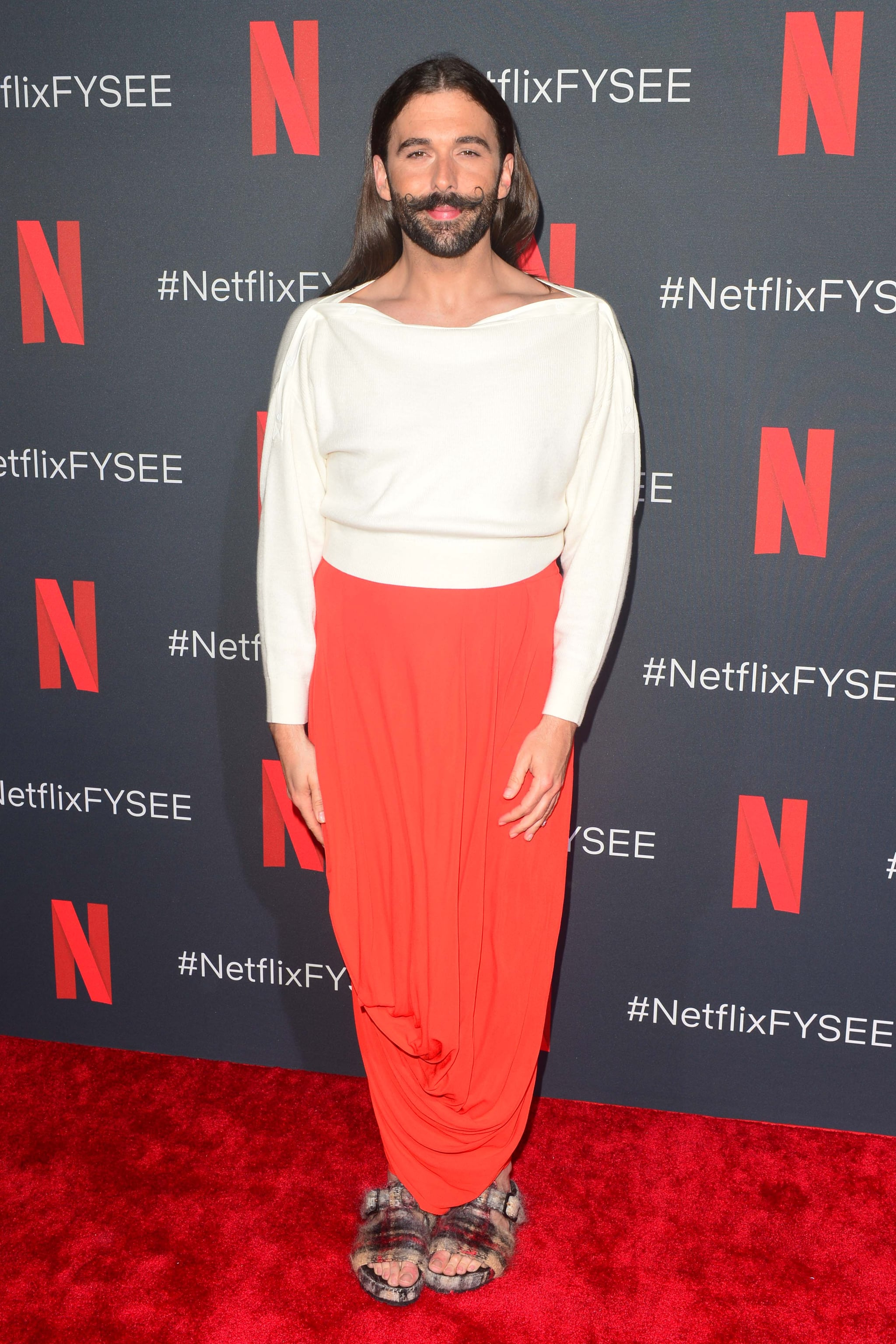 LOS ANGELES, CALIFORNIA - MAY 16: Jonathan Van Ness attends FYC Event of Netflix's 'Queer Eye' at Raleigh Studios on May 16, 2019 in Los Angeles, California. (Photo by Jerod Harris/Getty Images)