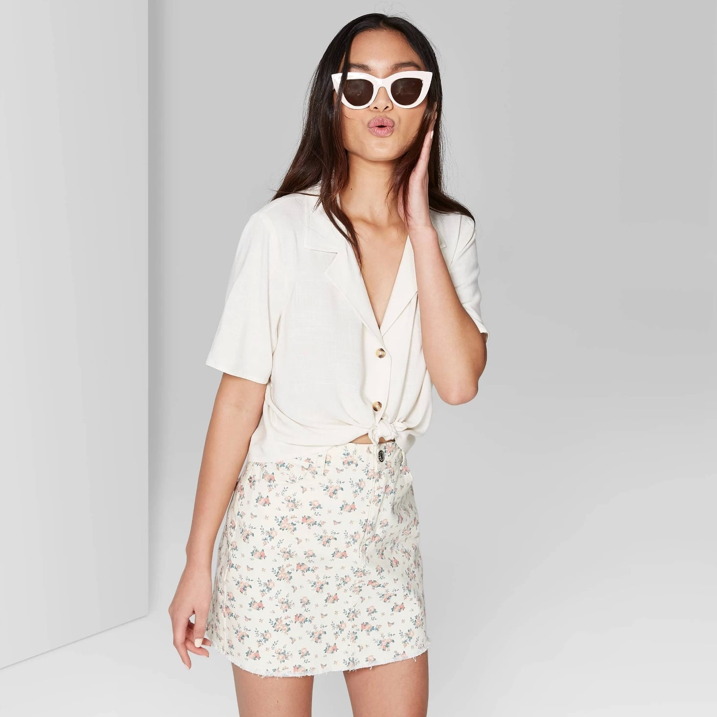 fc00bce61da784 Women's High-Rise Zip Front Cargo Pants | Best Wild Fable Clothing at Target  | POPSUGAR Fashion Photo 79