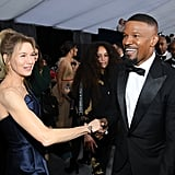 Renée Zellweger and Jamie Foxx at the 2020 SAG Awards