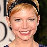 Michelle Williams surprised everyone when she wore a wide black headband to the 2012 Oscars. It looked surprisingly chic against her short haircut.