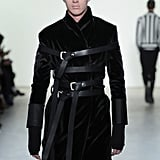 Man Walks Hakan Akkaya New York Fashion Week Runway in Burka