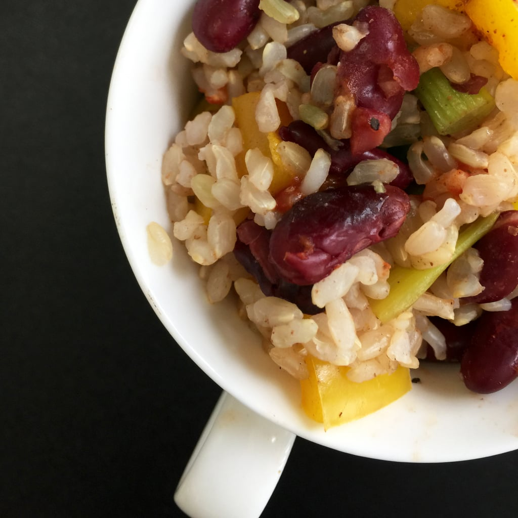 Microwaveable Mug Recipe: Indian Red Beans and Rice