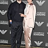Sam Claflin and Laura Haddock at Emporio Armani Fall 2019