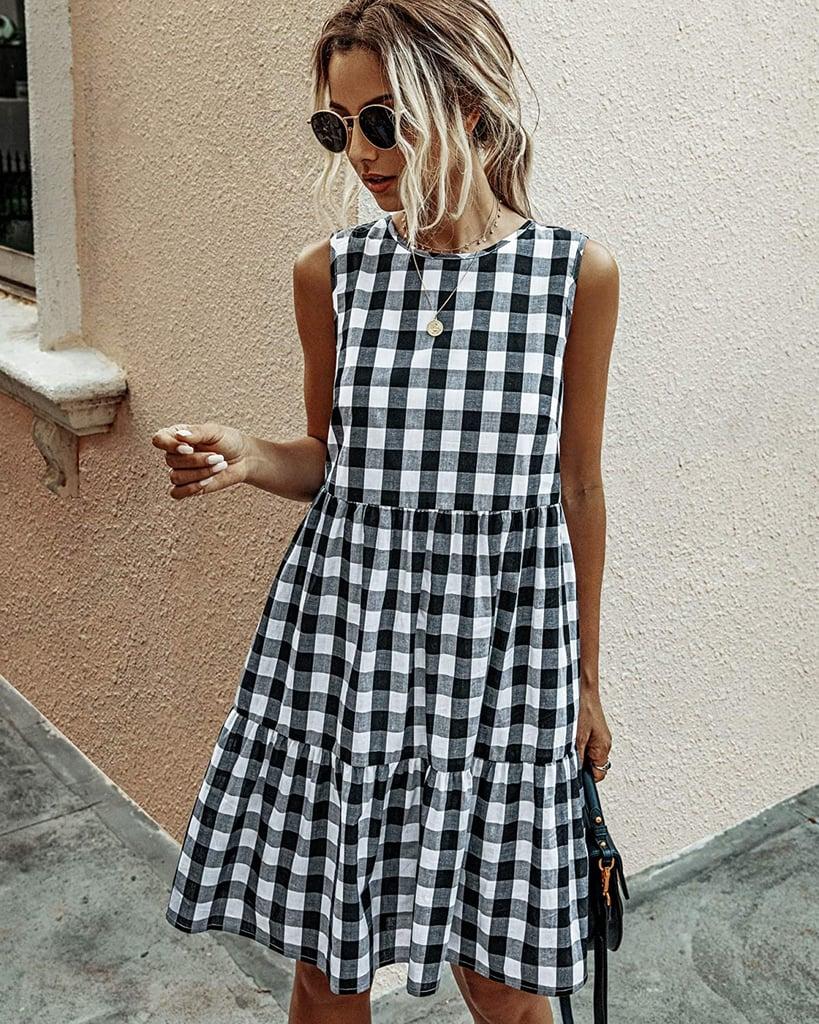 Ecowish Plaid Shift Dress