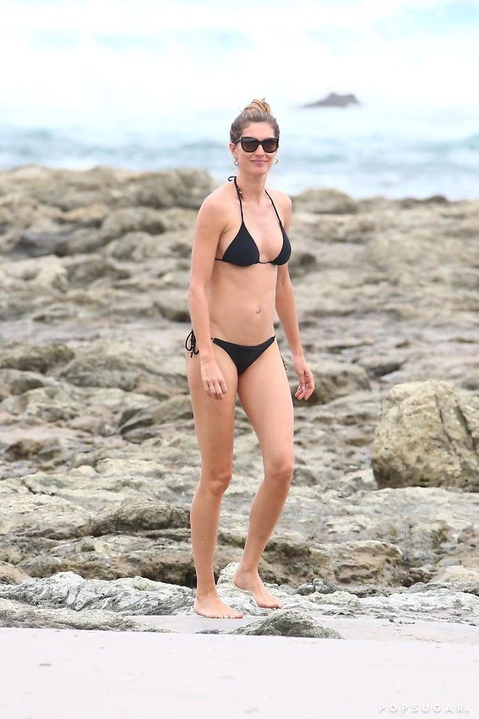 8dca1b3986890 Gisele Bündchen s Black Bikini July 2018