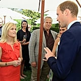 Prince William with Reese Witherspoon in LA.