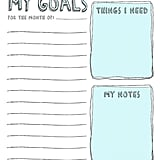 Printable Monthly Goal Planner