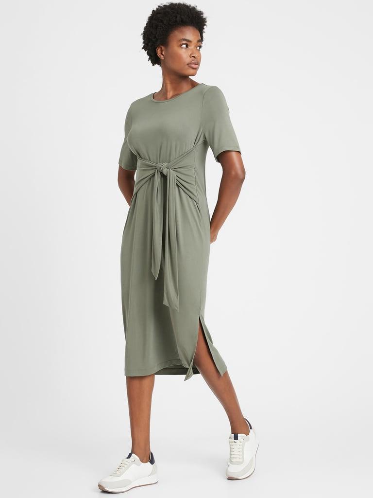 Banana Republic Sandwash Modal Twist-Front Dress