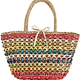 La Sera Daybreak Multicolor Straw Tote Bag, Neutral