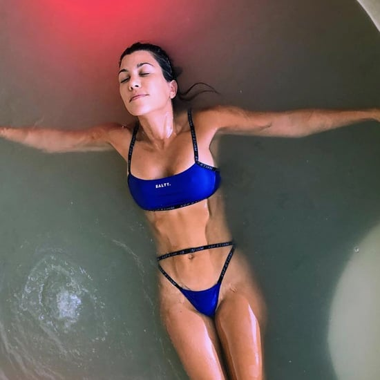 Kourtney Kardashian Blue Salty Bikini August 2018