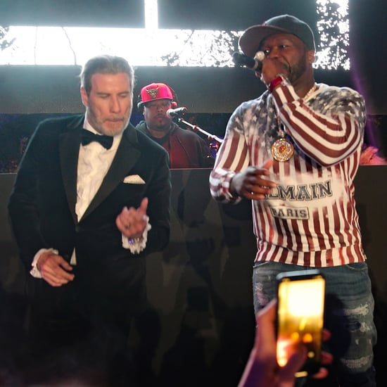 John Travolta Dancing With 50 Cent Cannes Film Festival 2018