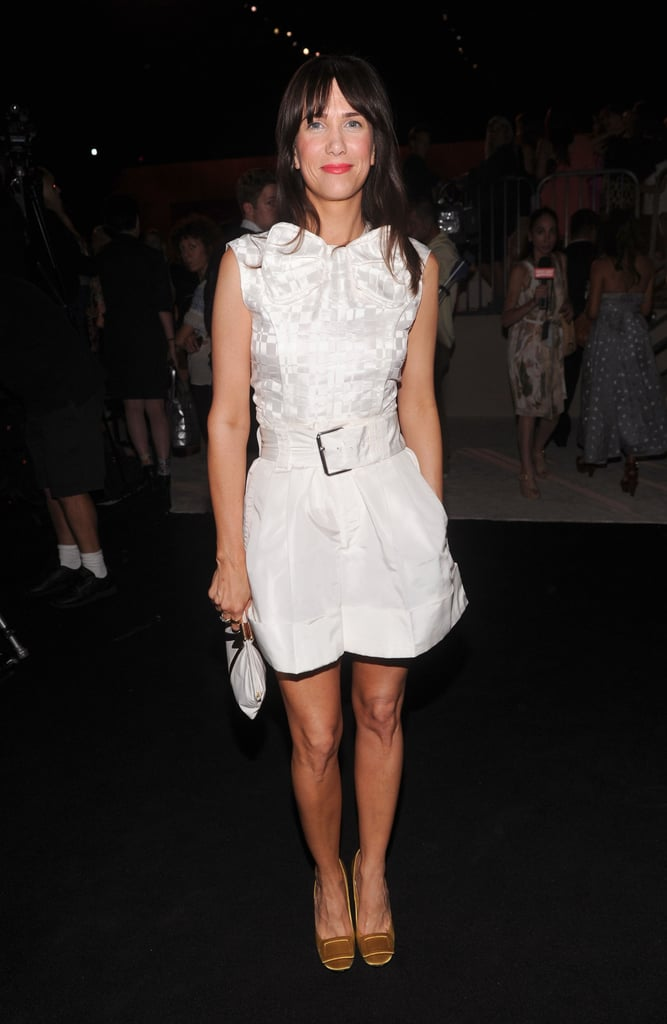 Kristen Wiig opted for a little white romper at Marc's show.