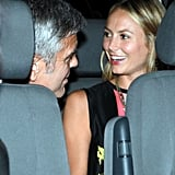 George Clooney and Stacy Keibler got in the back seat.