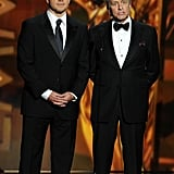 Matt Damon and Michael Douglas made a handsome pair when they presented together at the Emmys.