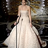 Jennifer Lawrence introduced Adele at the 2013 Oscars.