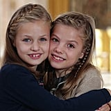 Princess Leonor and Infanta Sofïa's 2015 Christmas Card