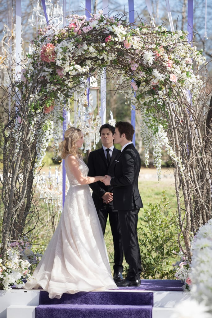 The Couple Says Their Quot I Dos Quot Caroline S Wedding Dress