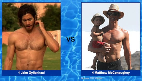Jake Gyllenhaal vs. Matthew McConaughey: Welcome to Our Shirtless Bracket Sweet 16!