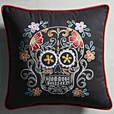 Pier 1 Imports Dia de los Muertos Skull Pillow ($35)