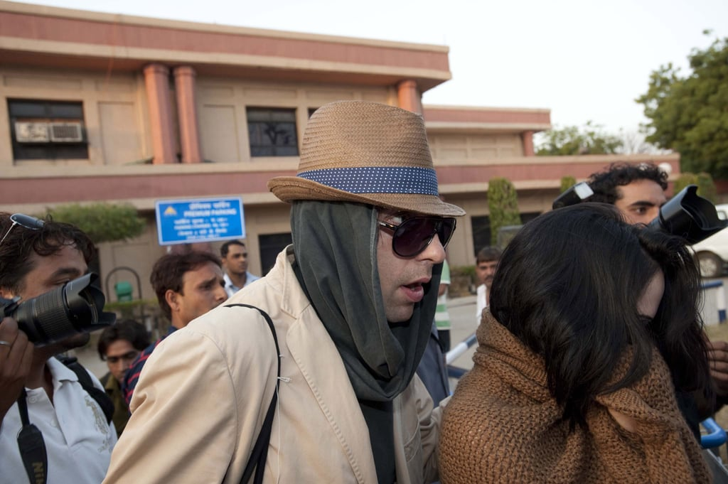Russell Brand and Katy Perry Arriving in India Ahead of Their Wedding