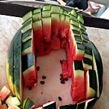 Cut a watermelon into rectangles, not triangles or half-circles.