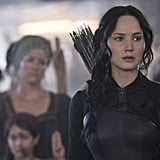 Katniss looks justifiably stressed.