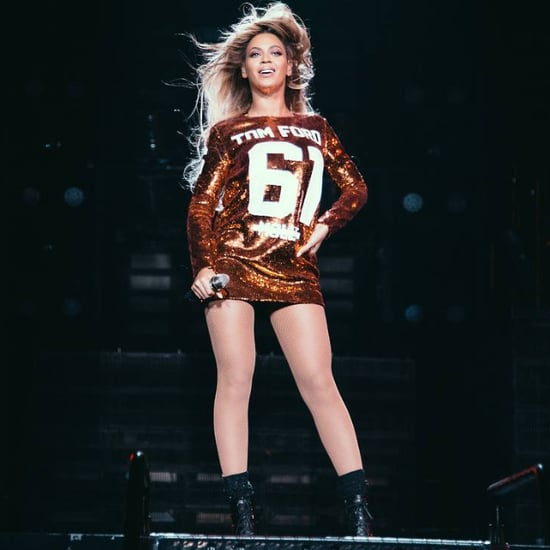 Beyonce Performing in Tom Ford Dress