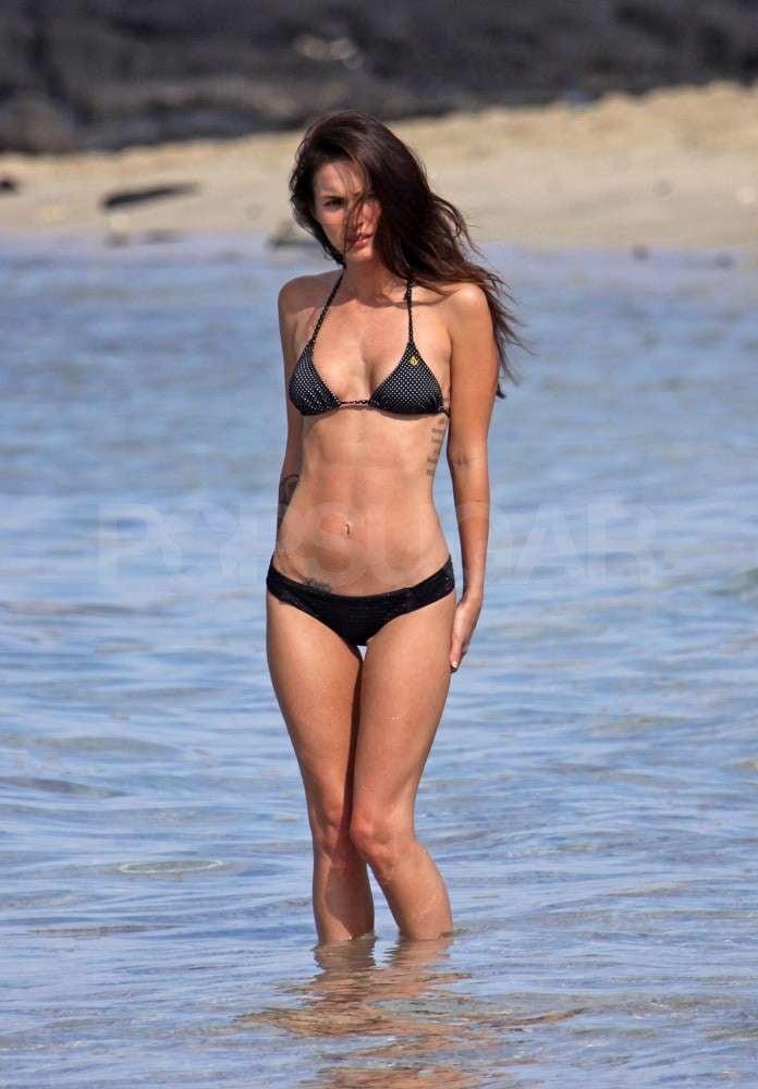 Megan Fox Wears a Skimpy Bikini on Christmas Getaway With BAG