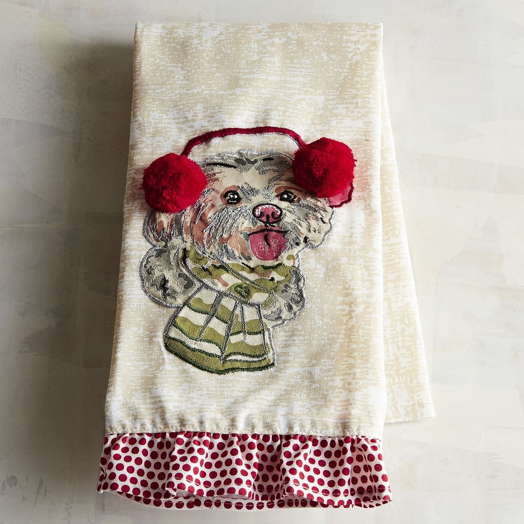 Christmas Maltese Dog Tea Towel ($13)