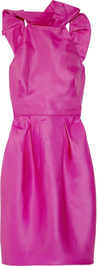 Stand out from the crowd in this hot pink Lela Rose number.  Lela Rose Angel Wing Ruffled Dress ($1,495)