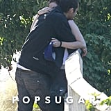 Kristen Stewart and Rupert Sanders hugged.