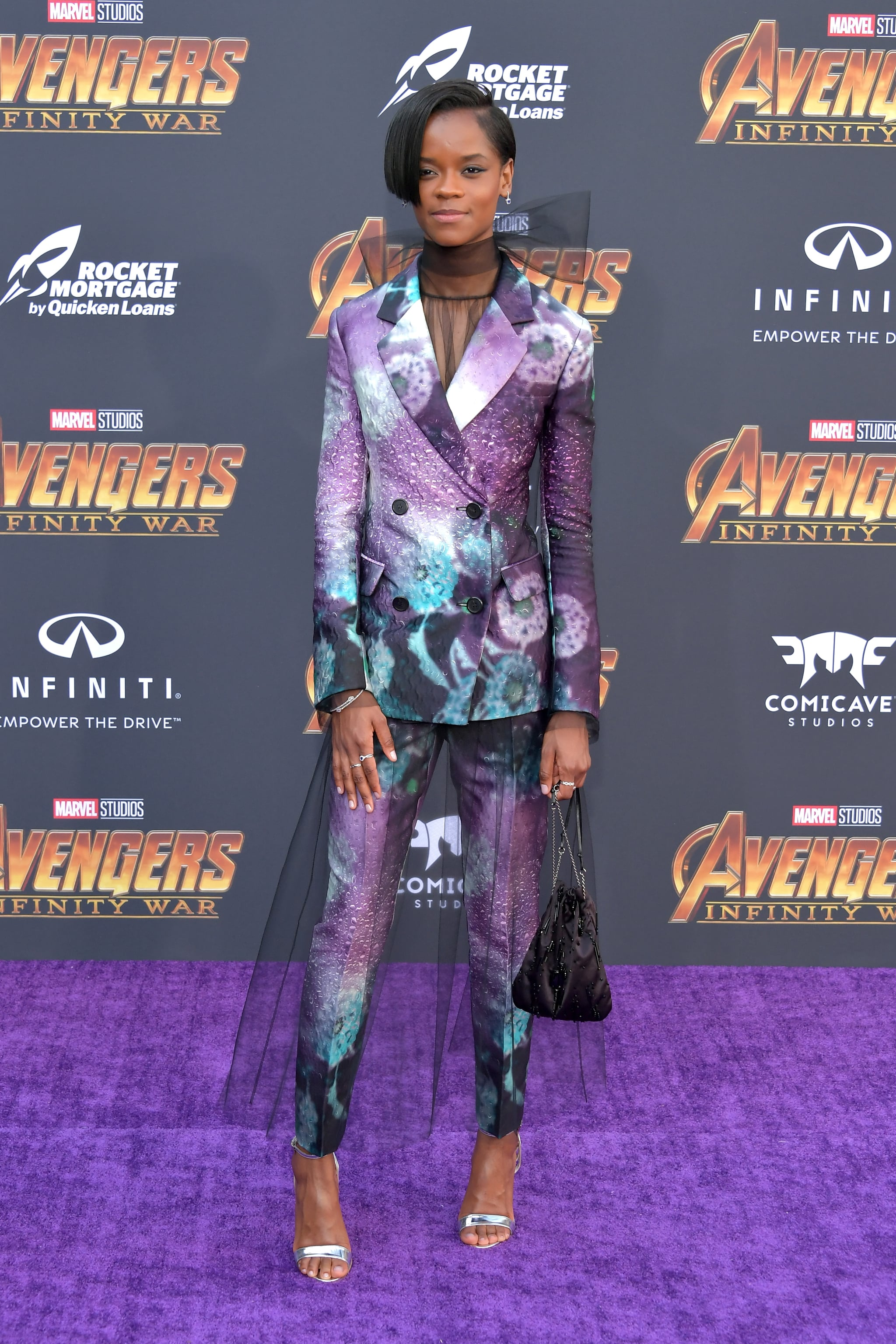 LOS ANGELES, CA - APRIL 23:  Letitia Wright attends the premiere of Disney and Marvel's 'Avengers: Infinity War' on April 23, 2018 in Los Angeles, California.  (Photo by Neilson Barnard/Getty Images)