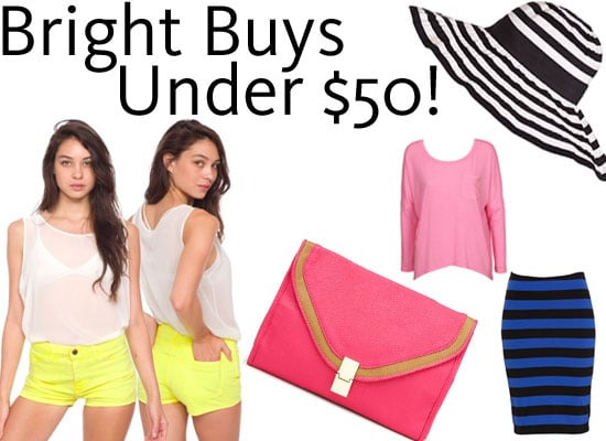 Get On the Bright Pop Colour Trend Bandwagon with Ten Budget Bright Buys Under $50!
