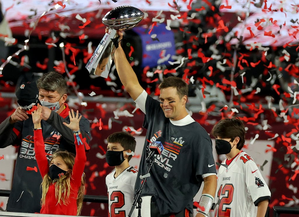 Tom Brady and His Family at the 2021 Super Bowl | Pictures