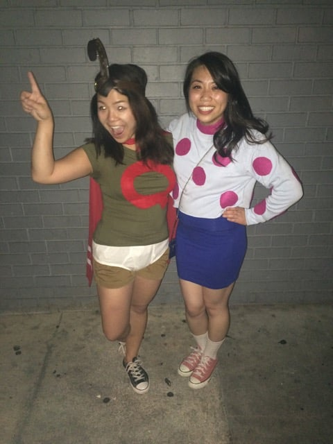 Doug as Quailman and Patti Mayonnaise | Last-Minute ... Quailman And Patty Mayonnaise Costume