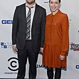 Seth Rogen posed with wife Lauren Miller at the NYC benefit.