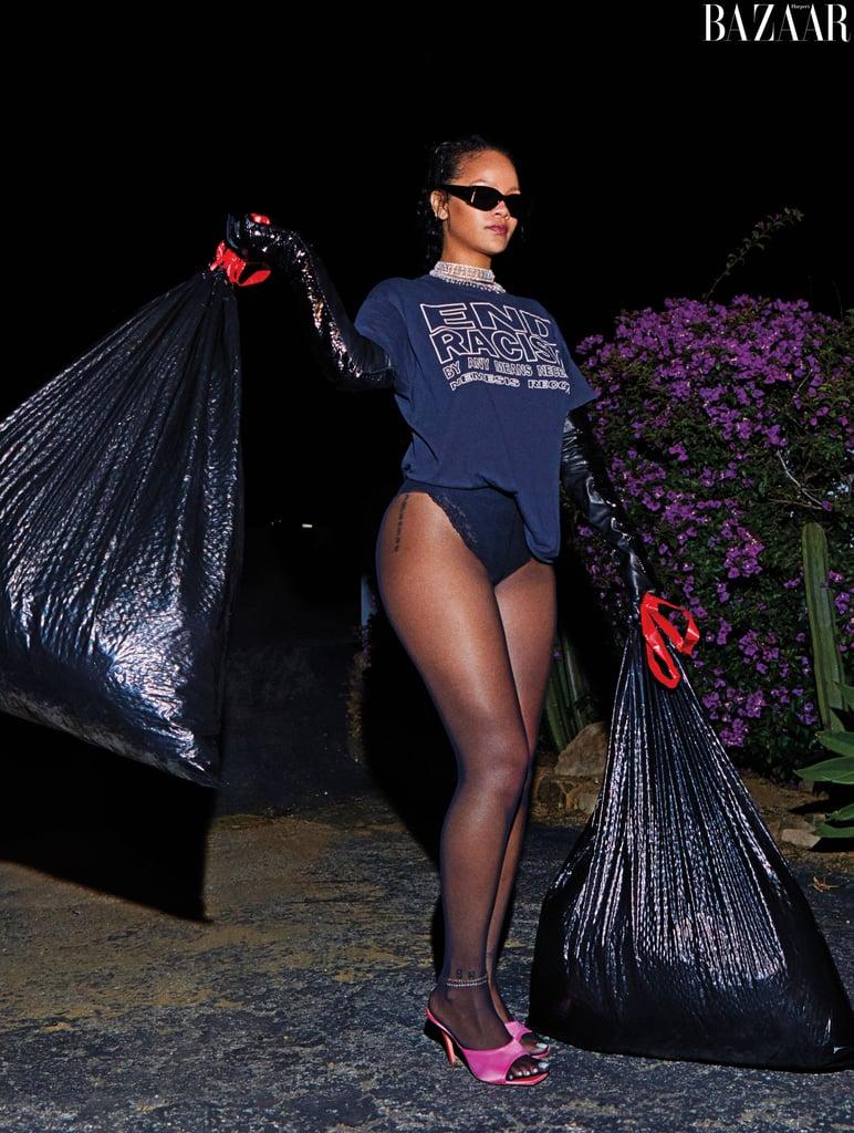 Rihanna Posing For Harper's Bazaar's September 2020 Issue