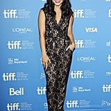 What's better than a jumpsuit? Perhaps, one with lace. And that's exactly what you'll get from Vanessa Hudgens, who dared to try the textural Alice by Temperley jumpsuit for her Spring Breakers photocall.