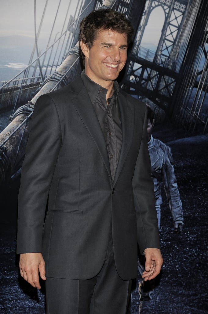 Tom Cruise gave his best smile at the Beunos Aires premiere of Oblivion in March 2013.