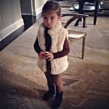 Arabella Kushner brought some furry fashion to school this week. Source: Instagram user ivankatrump