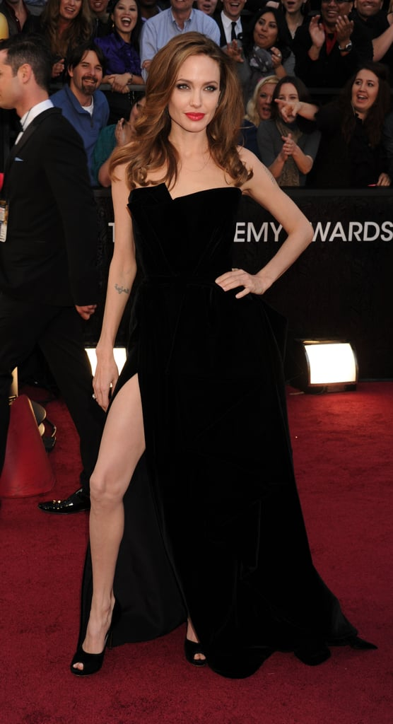 Angelina Jolie's Right Leg at the Oscars
