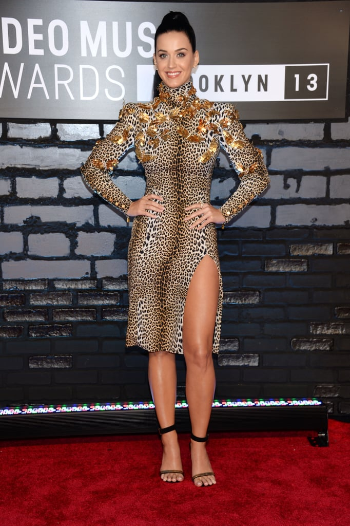 Katy Perry hit the VMAs red carpet.