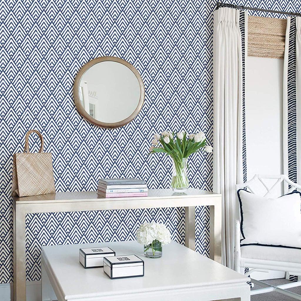 NuWallpaper Arrowhead Deep Blue Wallpaper