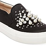 Steve Madden Glamour Pearl-Embellished Sneakers