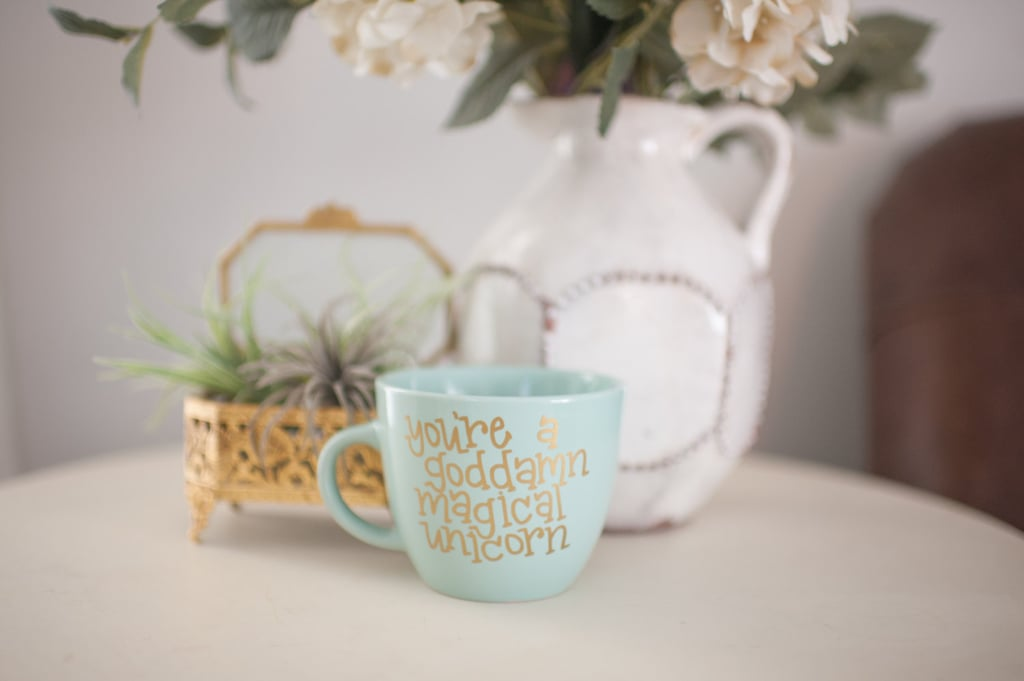 Hand Lettered Magical Unicorn Mug ($12)