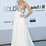 A gorgeously pregnant Georgina Chapman in one of her ethereal designs.